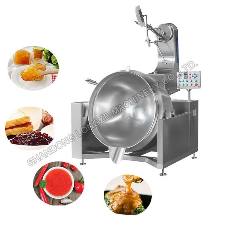 Fully Auto Soup Cooking Jacketed Kettle/Industrial Cooking Pot With Mixer